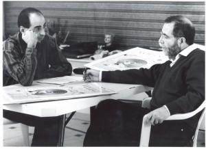 16. Preparando el cartel con Manuel Boix