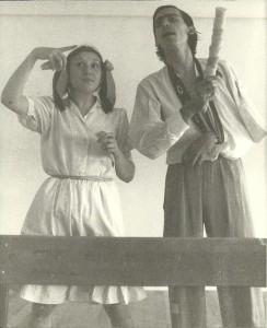 1982 Con Mª José Lloret en la ESAD