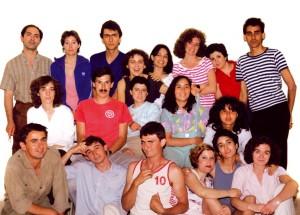 1985 El primer grup d'alumnes de l'EMT de Silla