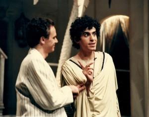 1987 Amb Ferran Catalá en LA COMÈDIA DE LES EQUIVOCACIONS