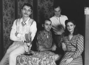 1992 Con Pepa Juan, Chema Cardeña y Ernesto Pastor