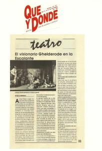 1992 Entrevista en Qué y Dónde