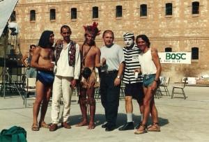 1993 Con Pepe Sobradelo, Miguel Albaladejo, Carles Castillo y Toni River