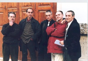 1998 Con Vicente Marrades, Kevin Elyot, Ferran Catalá y JuanVi Martínez Luciano