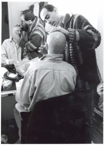 24. Maquillando a Josep Manel Casany