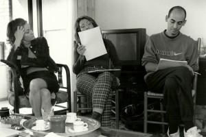 3. Rocío Cabedo, Ester Alabor y Ramón Moreno en la lectura